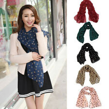 Fashion Lady Women Long Wrap Lady Shawl Polka Dot Chiffon Scarf Scarves Stole UK