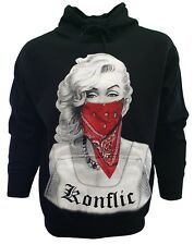 Marilyn Monroe Red Bandana Gangster Classic Design Men's Graphic Hoodie