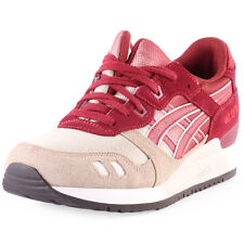 Asics Gel-Lyte III Fade Pack Mens Nylon & Suede Burgundy Trainers New Shoes