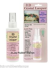 Sakura 3D Clear Crystal Lacquer Select 2 oz. Starter Kit or 4 oz. REFILL