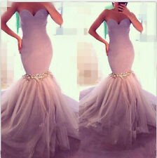 Hot Sweetheart Popular Mermaid Wedding Dresses Bridal Gown Custom Size 4 6 8++++