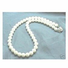 WHITE Sea Shell Pearl Necklace Wedding Bridal Bridesmaids Gift Prom 6mm 8mm 10mm