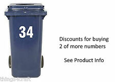 Wheelie Bin Numbers, Sticky Numbers Custom Choice Self Adhesive White Sticker