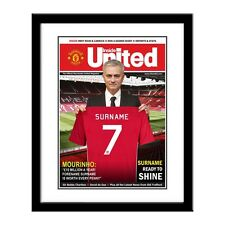 Personalised Manchester Man United Football Club Magazine Cover Print Any Name