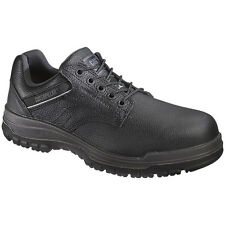 Caterpillar DIMEN Mens Black Leather P90000 Work Safety Steel Toe Oxford Shoes