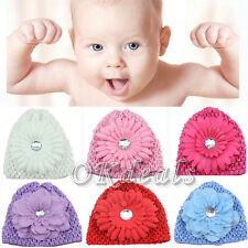 Baby Girls Cute Kid Toddler Infant Flower Knitting Hat Cap Beanie Headwear