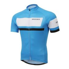 Blue Square beam Cycling Clothing Bike Bicycle short sleeve cycling jersey TOP