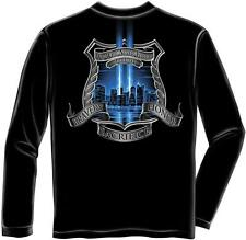 Erazor Bits Long Sleeve T-Shirt - Law Enforcement - We Will Never Forget - 9-11-