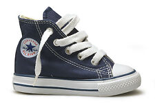 Converse Hi Top Navy Blue White Baby Infant Toddler Boys Girls Shoes Size 2-10