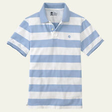 Timberland Men's Short Sleeve Miller River Striped Rugby Blue Polo Style#8744J