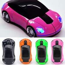 1pc Colorful Car Design For Laptop PC USB Receiver Wireless Optical Mouse Mice