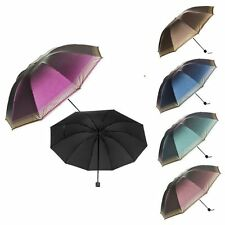 Windproof Anti-UV Folding Compact Umbrella Sun/Rain Protection W/Auto Open Close