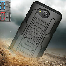 Armor Shockproof Hybrid Hard Case Cover Holster For Kyocera Hydro Wave/Hydro Air