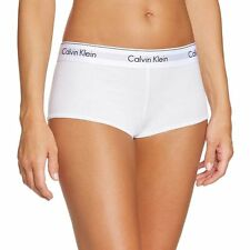 Calvin Klein Underwear CK Womens Modern Cotton Short, White Stretch Cotton Modal