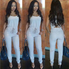 New Sexy Womens Solid Color Bodycon Jumpsuits & Rompers Beach Long Pant Trousers