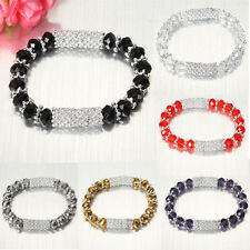Fashion Charm Women Crystal Glass Beaded Stretch Friendship Bracelet Bangle Hot