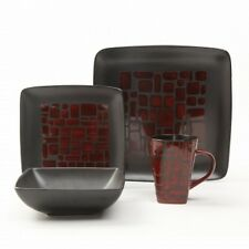 New Gibson 16 pc Dinnerware set (Serves 4) - Beautiful Unique Patterns + Free Sh