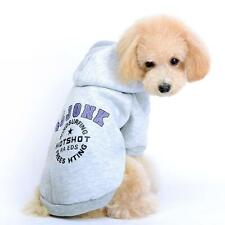Dog Puppy Pet Hoodie Sweatshirt Clothes Clothing Apparel Cute Grey XS/S/M/L/XL