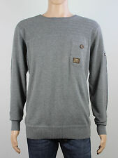 Duck & Cover mens Size XL XXL grey knit crew neck jumper