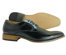 New Men's Dress Shoes UVSignature Black Oxford Majestic Leather Lining Cap Toe