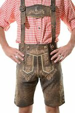 German Bavarian Oktoberfest Lederhosen German Outfit *JODLER* Antique Brown