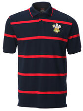 Wales Welsh Dragon Yarn Dyed Polo Shirt [navy]