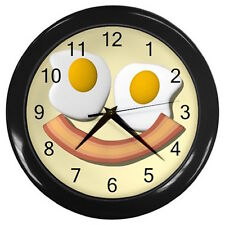 Bacon eggs breakfast breaking bad meat omelette Customize wall clock Free S&H