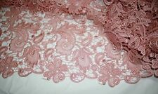 """Stunning Guipure Embroidery Wedding Lace Fabric 47"""" Wide for Bridal Dress1/2Yard"""