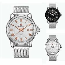 Women's Mens Date Watch Stainless Steel Band Sport Analog Quartz Wrist Watches