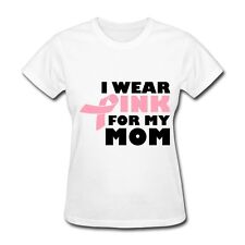 Breast Cancer I Wear Pink For My Mom Women's T-Shirt by Spreadshirt