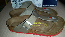 BIRKENSTOCK - GIZEH - FOSSEL VARNISH WITH RED SOLES RRP $127 SAVE $27