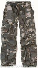 SURPLUS INFANTRY CARGO PANTS MENS VINTAGE ARMY BAGGY COMBAT TROUSER NITE CAMO