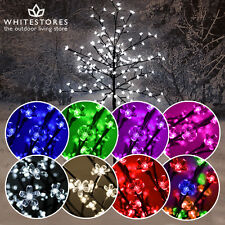 Pre-Lit Christmas LED Cherry Blossom Tree with Lights - Various Sizes & Colours