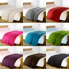Luxury Large Soft Plain & Animal Skin Faux Fur Throw Blankets / Cushion Covers