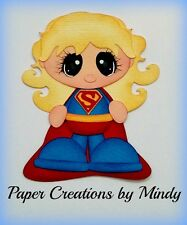 Craftecafe Mindy Superman girl premade paper piecing for scrapbook page album
