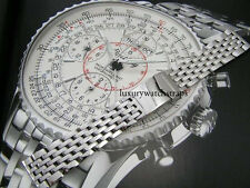 STEEL BRACELET STRAP FOR BREITLING BENTLEY NAVITIMER CHRONOMAT WATCH 20 22 24mm