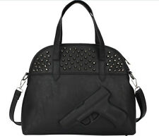 Women 3D Gun Bag Ladies Handbag Shoulder Retro Rivet Pistol Embossed Rock Punk