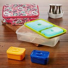 Fit & Fresh Insulated Bento Box Lunch Bag Kit with Carry Handle (Kids or Adults)