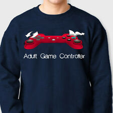 Adult Game Controller Funny Nerdy T-shirt Gamer Nipple Player Crew Sweatshirt