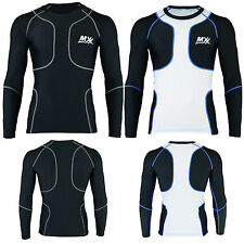 Mens Long Sleeve Compression Base Layer Shirts Tight Fit Body Armour Sports Tops