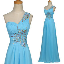 Stock Long Wedding Party Formal Bridesmaids Gown Evening Prom Graduation Dress