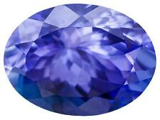 Tanzanite, oval cut, natural blue / blue purple loose gemstones, 1ctw, 7x5mm