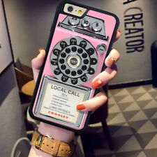 CHK Vintage Lovely Pink Payphone Hard Case for iPhone 7 5 5s 5C 6s 6 Plus Cover