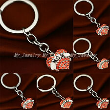XMAS Crystal Heart Pendant Keyrings Keychain Key Chain Friend Family Gifts New