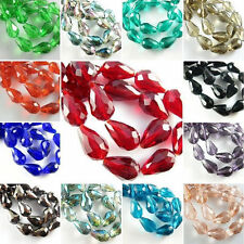 Glass Crystal Charms Findings Teardrop Spacer Loose Bead 50/100Pcs 3 Size Chose