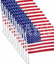 AMERICAN CAR FLAGS WINDOW CLIP ON - AMERICAN PATRIOTIC CAR WINDOW CLIP USA FLAG