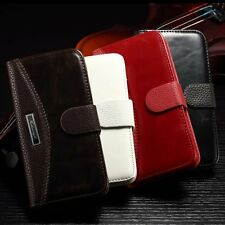 For iPhone 4 4S Luxury Magnetic Flip Leather Card Slot Wallet Case Stand Cover