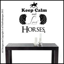 Horse Vinyl Wall Art / Quotes, Stickers / Decals, Mural/Graphics,KEEP CALM