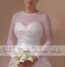 Bridal stretchable tulle  /T shirt/ bolero/ long sleves wedding gown