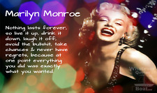 Marlyn Monroe Poster Print Quote Picture Wall Art Awesome Gift - All Sizes